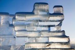 Parede do gelo Fotos de Stock Royalty Free