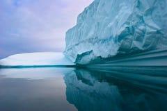 Parede do gelo Fotografia de Stock Royalty Free
