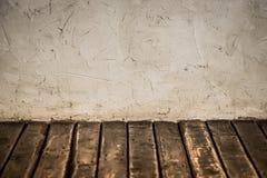Parede do Grunge e assoalho de madeira fotos de stock