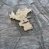 A parede do gueto em Vars?via imagens de stock