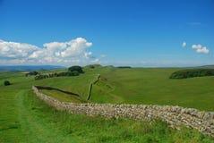 A parede do Hadrian Fotografia de Stock