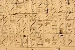 Parede do Hieroglyph imagem de stock