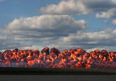Parede do incêndio fotografia de stock