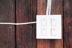 Parede do interruptor o da campainha elétrica Imagem de Stock Royalty Free