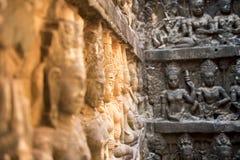 Parede do Khmer imagem de stock