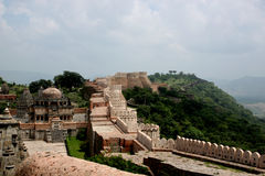 Parede do kumbhalgarh Fotografia de Stock Royalty Free