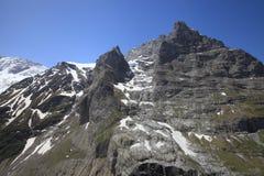 Parede do leste da montanha de Eiger foto de stock