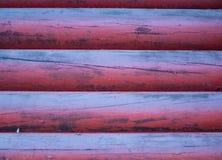 Parede do log de uma casa de campo Imagem de Stock