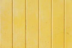 Parede do metal amarelo fotos de stock