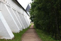 A parede do monastério Fotos de Stock