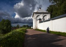 Parede do monastério Rússia foto de stock royalty free