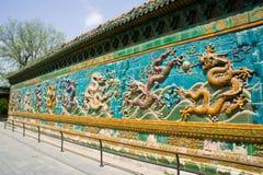A parede do Nove-Dragão imagens de stock