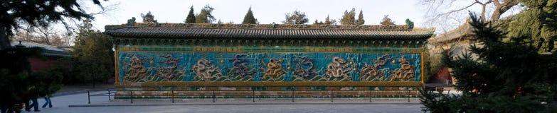 A parede do Nove-Dragão fotografia de stock royalty free