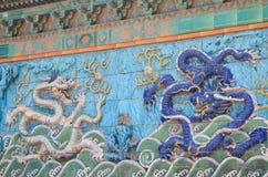A parede do Nove-dragão (Jiulongbi) na Cidade Proibida do Pequim China. fotografia de stock royalty free