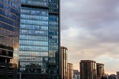 Parede do prédio de escritórios Imagens de Stock