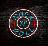Parede do rock and roll fotos de stock