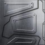 Parede do Scifi fundo do metal e ilustração da textura 3d Fotografia de Stock Royalty Free