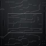 Parede do Scifi parede e circuitos da fibra do carbono Fundo do metal Imagens de Stock