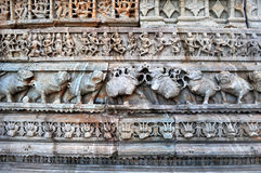 Parede do templo Foto de Stock