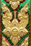 Parede do templo da arte de Tailândia Fotos de Stock Royalty Free
