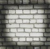 Parede do tijolo branco Fundo velho bonito vignette imagem de stock