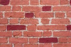 A parede do tijolo vermelho Imagem de Stock