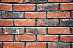 Parede do tijolo vermelho, fundo, Imagens de Stock