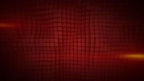 A parede do vermelho cuba a rendição abstrata do fundo 3D Fotos de Stock