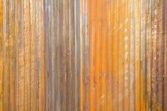 Parede do zinco da textura da oxidação para o fundo Fotos de Stock Royalty Free
