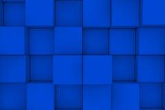 Parede dos cubos abstraia o fundo 3d rendem Imagem de Stock Royalty Free