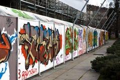 Parede dos grafittis Fotografia de Stock