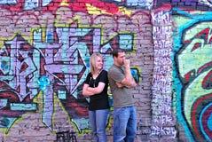 Parede dos grafittis Fotos de Stock