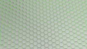 Parede dos hexágonos brancos com fulgor verde ilustração stock