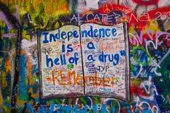 A parede 4 dos lennon de John Foto de Stock Royalty Free