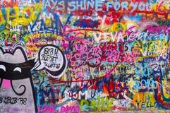 A parede 7 dos lennon de John Imagens de Stock