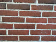 Parede dos tijolos vermelhos Imagens de Stock Royalty Free