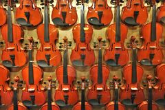 Parede dos violinos Foto de Stock