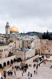 Parede e abóbada ocidentais da rocha no Jerusalém, Israel Imagem de Stock Royalty Free