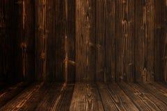 Parede e assoalho de madeira escuros do fundo do Grunge Textura de madeira surf fotos de stock royalty free