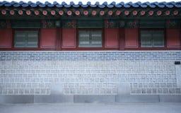 Parede e casa velhas no estilo coreano Imagens de Stock Royalty Free