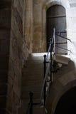 Parede e escada na igreja Fotografia de Stock