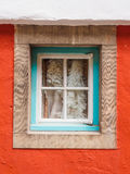 Parede e janela coloridas, Portmeirion Foto de Stock Royalty Free
