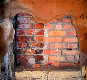 Parede e oxidação de tijolo Fotografia de Stock
