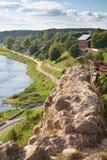Parede e rio velhos da fortaleza Imagem de Stock Royalty Free