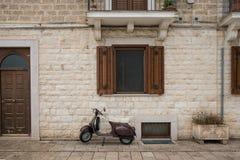Parede em Bari, Itália fotografia de stock