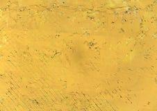 Parede emplastrada amarelo Fotografia de Stock Royalty Free