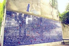 A parede eu te amo dentro de Paris Fotografia de Stock Royalty Free