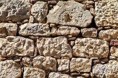 A parede exterior de grandes pedras Fotos de Stock