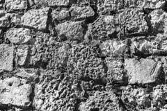 A parede exterior de grandes pedras Fotos de Stock Royalty Free