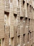 Parede feita de cortar as texturas e o fundo de madeira foto de stock royalty free